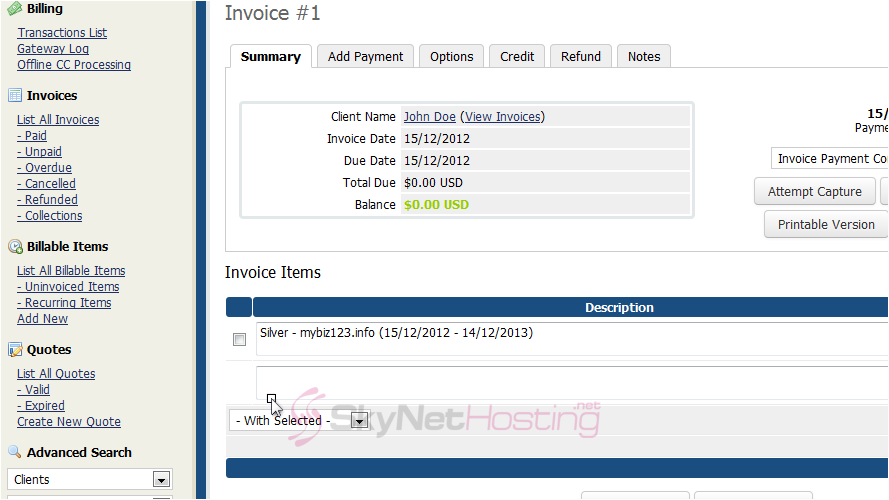 invoice-of-the-order