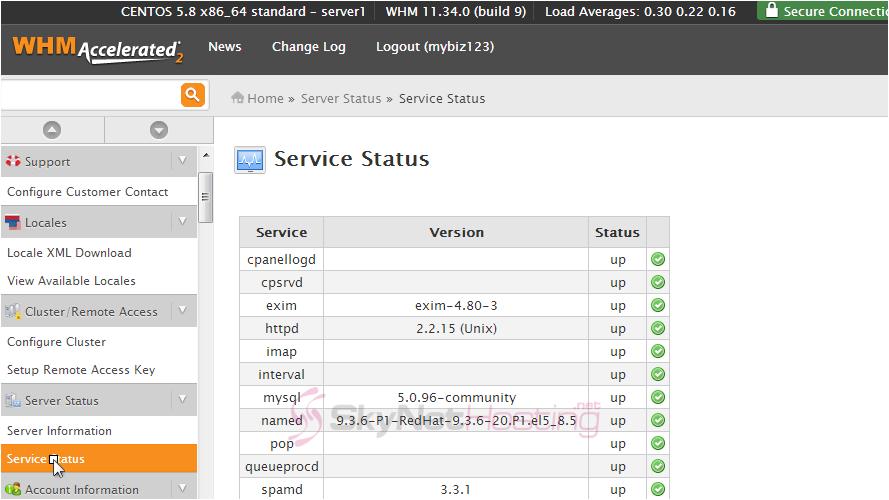 service-status-interface
