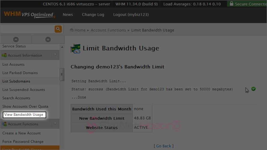 view-bandwidth-usage