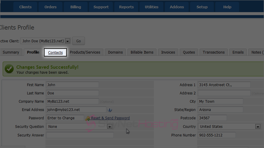 whmcs-client-profile-contacts-tab